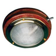 "Sea-Dog Teak LED Dome Light - 5"" Lens"