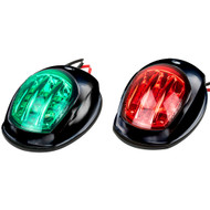 Sea-Dog Black LED Navigation Lights - Port  Starboard