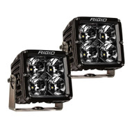 RIGID Industries Radiance Pod XL - Black Case w\/White Backlight - Pair