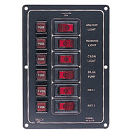 Sea-Dog Aluminum Switch Panel Vertical - 6 Switch
