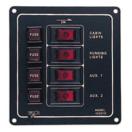 Sea-Dog Aluminum Switch Panel - Vertical - 4 Switch