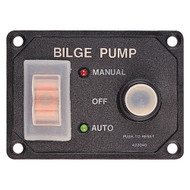 Sea-Dog Splash Guard Bilge Pump Panel w\/Circuit