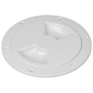 "Sea-Dog Quarter-Turn Smooth Deck Plate w\/Internal Collar - White - 8"""