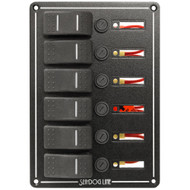 Sea-Dog Rocker Switch Panel - 6 Circuit