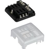 Sea-Dog Blade Style LED Indicator Fuse Block w\/Negative Bus Bar - 6 Circuit
