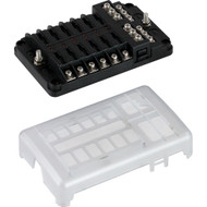 Sea-Dog Blade Style LED Indicator Fuse Block w\/Negative Bus Bar - 12 Circuit
