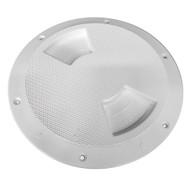 "Sea-Dog Quarter-Turn Textured Deck Plate w\/Internal Collar - White - 5"""