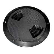 "Sea-Dog Quarter-Turn Textured Deck Plate w\/Internal Collar - Black - 5"""