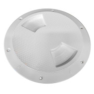 "Sea-Dog Quarter-Turn Textured Deck Plate w\/Internal Collar - White - 6"""