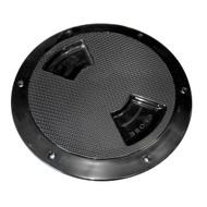 "Sea-Dog Quarter-Turn Textured Deck Plate w\/Internal Collar - Black - 8"""