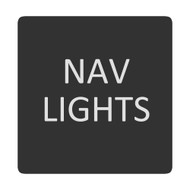 Blue Sea 6520-0327 Square Format Nav Lights Label