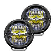 "RIGID Industries 360-Series 4"" LED Off-Road Fog Light Drive Beam w\/White Backlight - Black Housing"