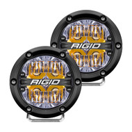 "RIGID Industries 360-Series 4"" LED Off-Road Fog Light Drive Beam w\/Amber Backlight - Black Housing"