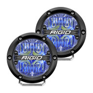 "RIGID Industries 360-Series 4"" LED Off-Road Fog Light Drive Beam w\/Blue Backlight - Black Housing"