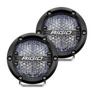 "RIGID Industries 360-Series 4"" LED Off-Road Fog Light Diffused Beam w\/White Backlight - Black Housing"