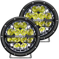 """RIGID Industries 360-Series 6"""" LED Off-Road Fog Light Spot Beam w\/White Backlight - Black Housing"""