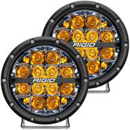 "RIGID Industries 360-Series 6"" LED Off-Road Fog Light Spot Beam w\/Amber Backlight - Black Housing"