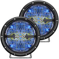 "RIGID Industries 360-Series 6"" LED Off-Road Fog Light Spot Beam w\/Blue Backlight - Black Housing"