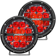 "RIGID Industries 360-Series 6"" LED Off-Road Fog Light Spot Beam w\/Red Backlight - Black Housing"