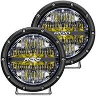 "RIGID Industries 360-Series 6"" LED Off-Road Fog Light Drive Beam w\/White Backlight - Black Housing"