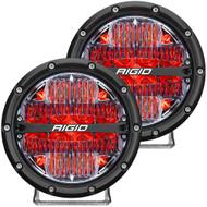 "RIGID Industries 360-Series 6"" LED Off-Road Fog Light Drive Beam w\/Red Backlight - Black Housing"