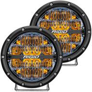 "RIGID Industries 360-Series 6"" LED Off-Road Fog Light Drive Beam w\/Amber Backlight - Black Housing"