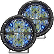 "RIGID Industries 360-Series 6"" LED Off-Road Fog Light Drive Beam w\/Blue Backlight - Black Housing"