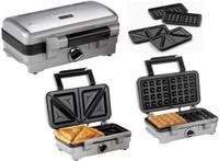 Cuisinart Sandwich / Waffle Maker n Brushed metal