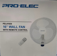 "16"" Wall Fan + Remote Control"
