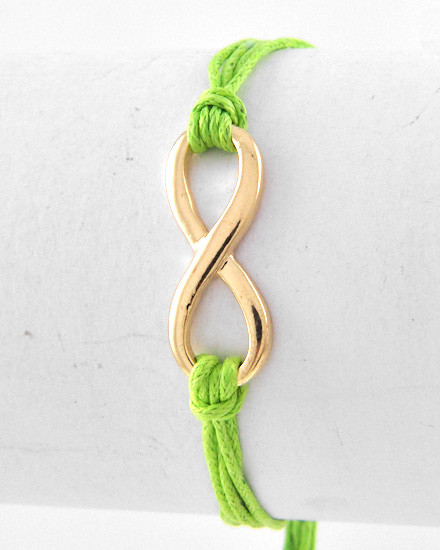 Golden Loop with Green Cord
