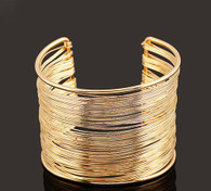 Multi Layer Gold String Cuff