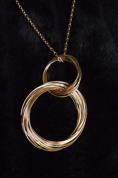 Multi Ring Gold Necklace