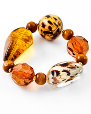 Faux Amber Stretch Bracelet