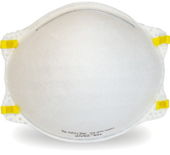 This NIOSH N95 Particulate Respirator is rated to protect against environmental dust.
