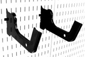2 Pack of Scratch & Dent 12in Reach Heavy-Duty Wall Control Slotted Pegboard Hooks