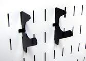 2 Pack of Scratch & Dent Slanted U-Shaped Slotted Pegboard Hooks – 2-1/2 Reach