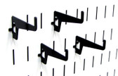 4 Pack of Scratch & Dent Long Reach Slotted Pegboard Hook – 2-7/8 Reach