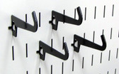 4 Pack of Scratch & Dent Curved Tip Slotted Pegboard Hook – 3-1/2 Reach