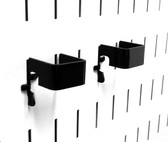 2 Pack of Scratch & Dent 1in x 1in Slotted Metal Pegboard C-Brackets