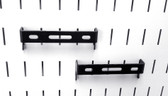 2 Pack of Scratch & Dent 1in x 4in Slotted Metal Pegboard C-Bracket