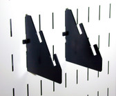 2 Pack of Scratch & Dent Slotted Metal Pegboard Slotted Bracket Pair
