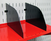2 Pack of Scratch & Dent 9in Deep Wall Control Pegboard Shelf Dividers