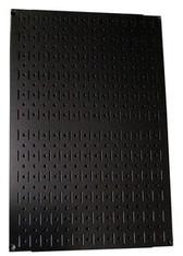 Scratch & Dent 24in Tall x 16in Wide Custom Pegboard Panel - Black Metal Pegboard