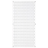 8 Pack of Pegboard - Scratch & Dent Wall Control 16in W x 32in T White Metal Pegboard