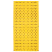 8 Pack of Pegboard - Scratch & Dent Wall Control 16in W x 32in T Yellow Metal Pegboard