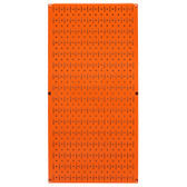 8 Pack of Pegboard - Scratch & Dent Wall Control 16in W x 32in T Orange Metal Pegboard