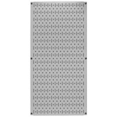 8 Pack of Pegboard - Scratch & Dent Wall Control 16in W x 32in T Gray Metal Pegboard
