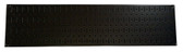 Scratch & Dent 8in T  X 32in W Horizontal Black Metal Pegboard Tool Board Panel