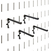 4 Pack of Scratch & Dent Paint Brush Hooks & Storage Pegs - 3 Inch Reach