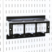 Scratch & Dent Slotted Metal Pegboard Drill Holder Storage Rack